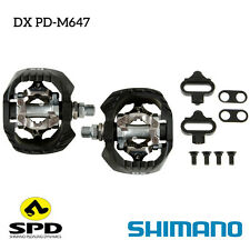 New Shimano DX SPD PD-M647 Clipless Pedal Downhill Set Off-Road MTB