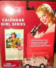 JOHNNY LIGHTNING COCA-COLA:MILITARY WILLYS  JEEP CALENDAR GIRL series  1:64 yr03