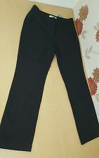 Lk bennett ladies trousers black pinstripe size 10 work office formal