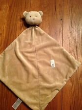 Precious Firsts Carters Tan Brown Bear Lovey Security Blanket Rattle Baby Toy