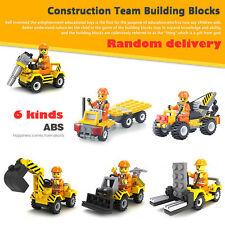 Construction Team Road Sweeper Building Blocks DIY Puzzle Toys Kids Child Gift