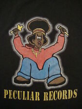 Peculiar Records Indie Hip Hop Rock Music Record Label Funny 50/50 T Shirt M