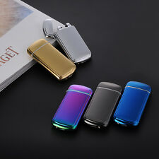 USB Cigarette Cigar Electronic Arc Lighter Recharge Flameless Windproof Metal US