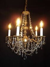 Antique brass crystal chandelier 5 lights quality 30% lead crystal