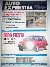 FORD Fiesta - Revue technique Auto-Expertise (catalogue pièces détachées)