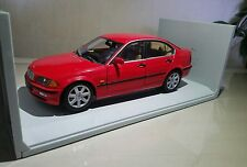 UT Models BMW 328i Sedan in Red, 1/18 Scale,  in Box RARE EXCELLENT CONDITION