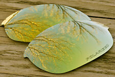 New 24K Yellow Gold Polarized Replacement Sunglass Lenses for Oakley Half Jacket