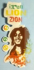 LOT OF 5 pcs 1 Words/3 PEACE SIGNS/1 PHOTO BOB MARLEY CLEAR SEE THROUGH STICKER