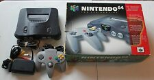 Boxed Nintendo 64 Launch Edition Console System Box CIB Lot Charcoal Grey Smoke