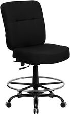 HERCULES 400 lb. Capacity Big & Tall Black Drafting Chair with Extra Wide Seat