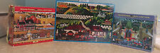 Hometown Collection LOT of 3 1000 Piece Americana Jigsaw Puzzles