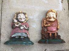 cast iron Punch And Judy  doorstop door stop door porter