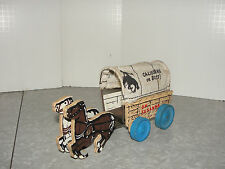 VIntage 1949 Keystone Shooting Frontier Covered Wagon - California or Bust