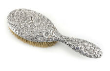 Gorham Sterling Silver Vanity Hair Brush, c1900 Repousse, hand chased floral