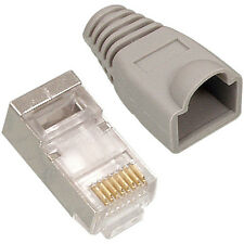 8x RJ45 CAT5e FTP/STP CABLE END CRIMP PLUGS -8P8C CONNECTORS- NETWORK ETHERNET