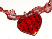 1 METRE DEEP RED METALLIC WIRE MESH RIBBON FROM MENONI ITALY, LIKE WIRELACE
