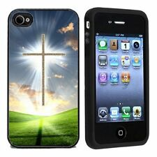 AtomicMarket Rubber Christian Cross For Apple iPhone 4 or 4s Case / Cover All Ca