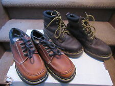 2 PAIR of Dr. Doc Martens MADE IN ENGLAND 8A25 Brown shoes boots Size men's 5