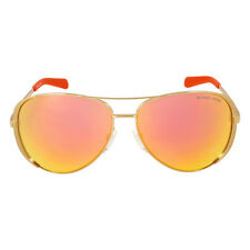 Michael Kors Chelsea Aviator Sunglasses - Gold/Orange Mirror
