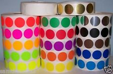 "1000 1/2"" CIRCLE COLOR CODED Label Sticker Dot 1 roll 1 color pick from pic"