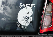 Samoyed - Car Window Sticker - Dog Sign -V01