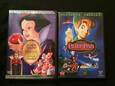 Disney Movie DVD Bundle SNOW WHITE *PETER PAN*
