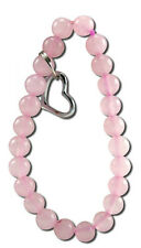 Zorbitz Art of Luck Rose Quartz Love Bracelet with Hanging Heart