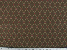 Drapery Upholstery Fabric Quilted Chenille Diamond & Dot - Gold, Rust, Brown