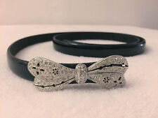 BUTTERFLY diamante belt with hook clasp - up to 93cm