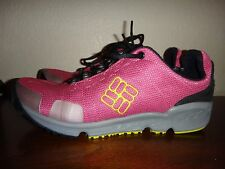 COLUMBIA~TECHLITE~Womens Lace-Up Sport Shoes Sneakers~Pink Grey Black~US Sz 10