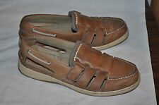 SPERRY TOP-SIDER MENS 8 1/2 M BROWN LEATHER BOAT YACHT SHOES EUC  FREE SHIPPING