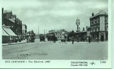 Pamlin repro photo postcard C1907 OLD LEWISHAM The Obelisk 1907 Horse Bus