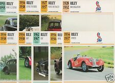FICHES AUTOMOBILE GB CAR RILEY SPRITE MPH ELF IMP KESTREL BROOKLANDS NINE MONACO