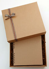 "Plain Kraft Brown Scrapbook, 8""x 8"" boxed memory book gift, to decorate yourself"