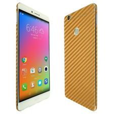 Skinomi Gold Carbon Fiber Skin+Clear Screen Protector for Huawei Honor Note 8