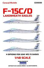 Caracal Decals 1/48 MCDONNELL DOUGLAS F-15 EAGLE Lakenheath Eagles
