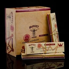 HORNET 24 Booklets Organic Hemp  King Size Tobacco Rolling Papers + Tips