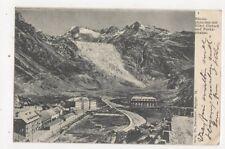 Rhonegletscher Mit Hotel Gletsch & Furkastrasse Switzerland 1905 Postcard 445a
