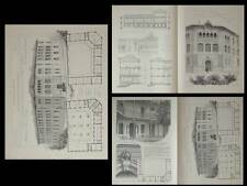 MARSEILLE, LYCEE VICTOR HUGO - PLANCHES ARCHITECTURE 1913 - LEONCE MULLER