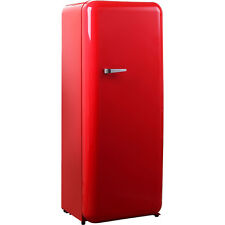 Brand New Schmick Tall Red Retro Refrigerator With Cool Vintage Style Look