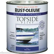 4 Qt Navy Blue RustOleum Marine Boat Topside Above Water Line Gloss Paint 207002