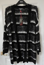 M&S Limited Collection Open Front Cardigan, Black Mix, size 10, Was £39.50, BNWT