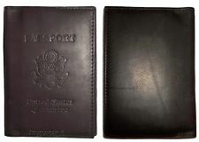 New USA Leather passport Cover, Case wallet credit card case ID holder. Lot of 2