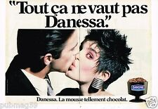 Publicité advertising 1984 (2 pages) Dessert Mousse au chocolat Danone