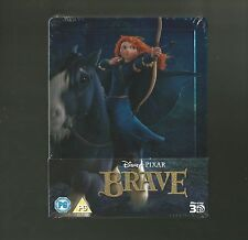 DISNEY PIXAR'S BRAVE - 3D + 2D BLU RAY STEELBOOK - BRAND NEW & SEALED