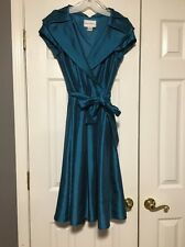 Davids Bridal Mother Of The Bride Dress/ Formal Dress Tea Length Blue Size 10