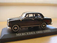 EXTREMELY RARE MERCEDES 180D  1955  PORTUGUESE NUMBER PLATE ALTAYA/IXO 1/43