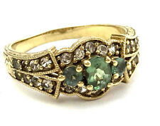 Generations 1912 Alexandrite & White Sapphire Ring, Size 9, Gold Plated Sterling