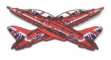 RAF Rosso Frecce Cross Over Royal Air Force Militare Patch Ricamato