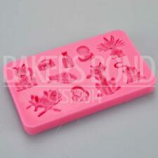 Cute Cat Kitten Fish Themed Silicone Mould Chocolate Cake Baking Topper Icing